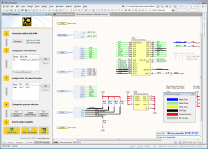 View your JTAG access on the schematic while designing.
